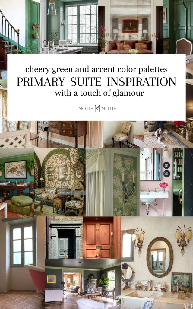 primary suite inspiration images with green