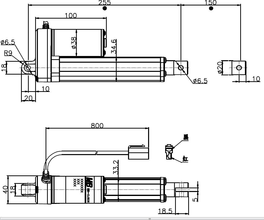 200n 150mm Stroke 42mm Sec 12v