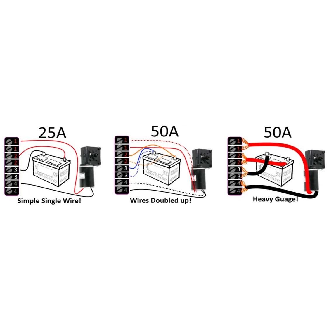 12v 36v Bi Directional Dc Speed Controller 50a Internal