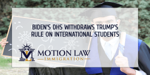 The Biden administration withdraws limitation on international students