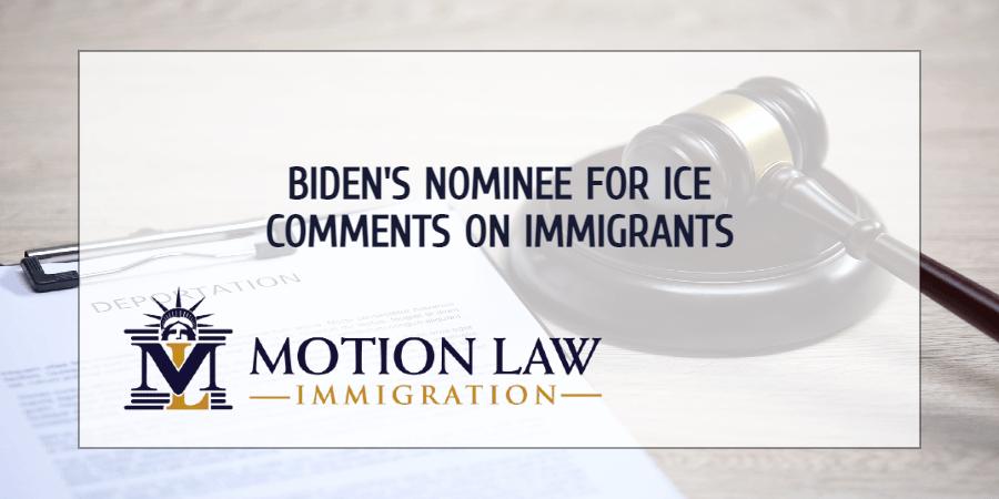 Biden's nominee to lead ICE talks about his future duties