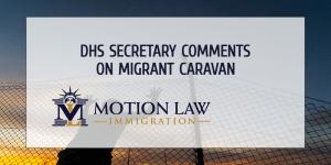 Alejandro Mayorkas, the DHS secretary, comments on the migrant caravan