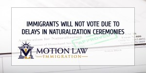 Thousands of immigrants can't vote due to delays in naturalization ceremonies