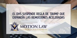 Administración de Biden suspende política de deportaciones aceleradas