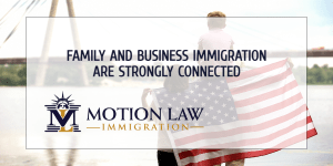 How are family and business immigration related?