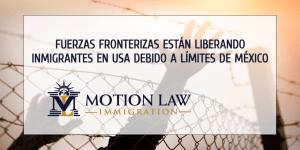 Fuerzas fronterizas liberan familias de inmigrantes en los Estados Unidos