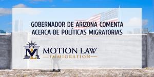 Gobernador de Arizona preocupado por acciones de Biden sobre la inmigración