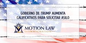 Incrementan restricciones para solicitudes de asilo en USA