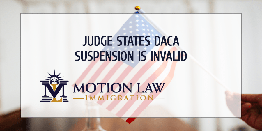 Judge rules that DHS rules on DACA are invalid