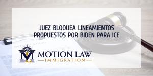 Juez de Texas bloquea lineamientos de Biden para ICE