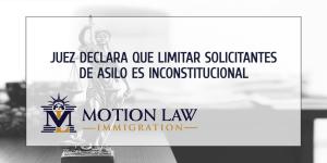 Juez falla en contra de limitar solicitantes de asilo en las fronteras