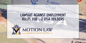 Lawsuit asks to allow L-2 visa holders to work