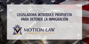 Legisladora presenta proyecto de ley para frenar substancialmente la inmigración