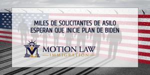 Miles de solicitantes de asilo esperan su oportunidad para entrar a USA