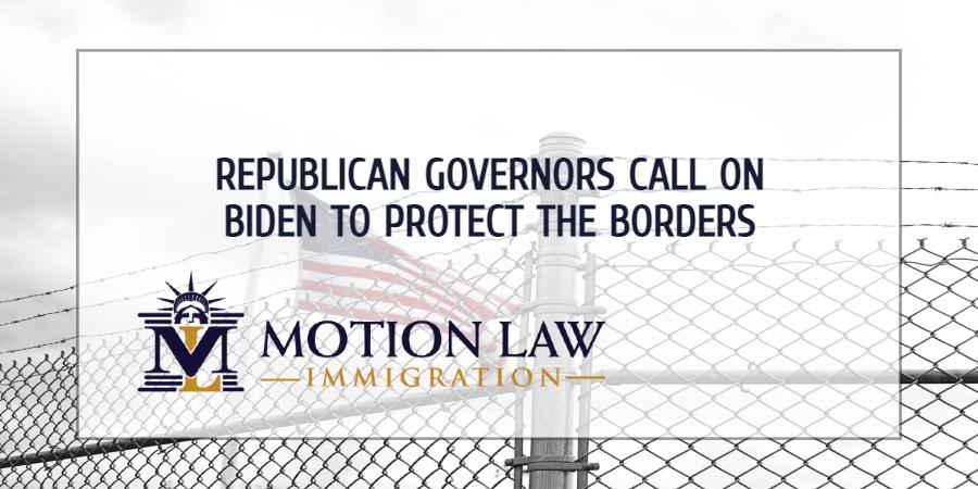 Republican Governors ask Biden to resume border wall construction