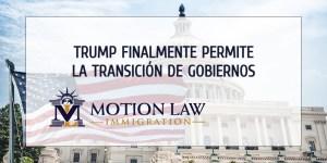 Gobierno de Trump permite la transición del gobierno de Biden