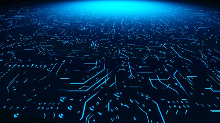 Abstract Circuit Board Background Free Download