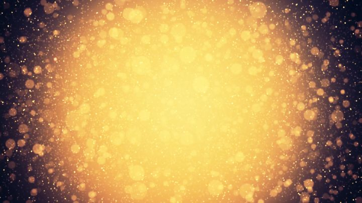 Golden Particles Background Video