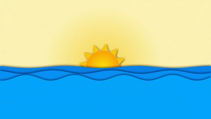 Animated Sun and Waves