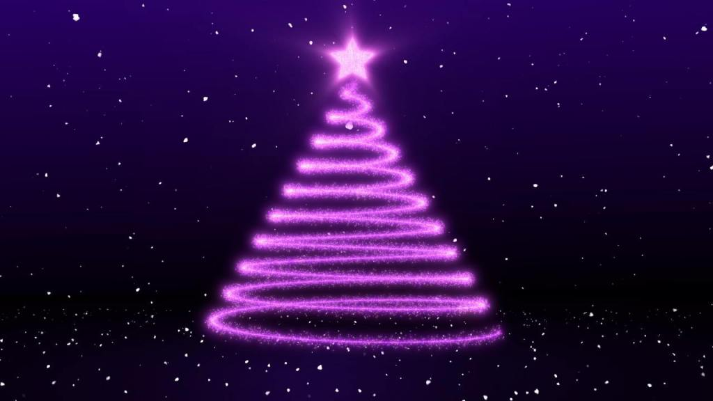 Animated Christmas Tree Video Background  loop