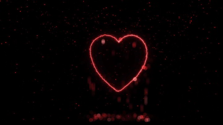 Heart Particles Background Animation