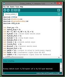 Arduino cruise control sketch
