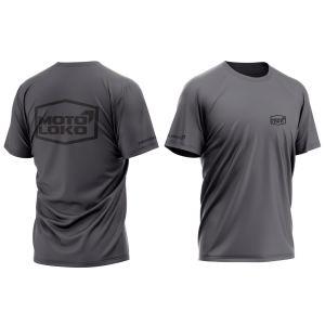 front & back of dark grey hex motorsports t-shirt