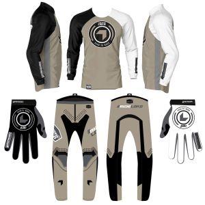 Sand born 2 race motorsports kit bundle showing jersey, pants and gloves