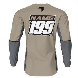 back of sand fresh motorsports jersey with example customisation