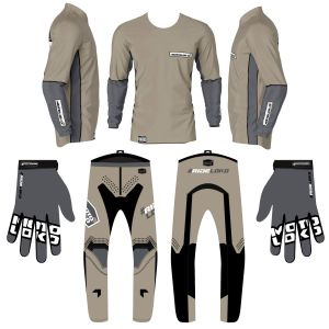 Sand fresh motorsports kit bundle showing jersey pants and gloves