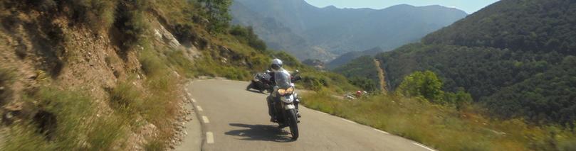 Pyrénées espagnoles moto