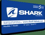 casque modulable Shark 5 ans garantie