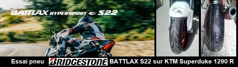 Bridgestone S22 Battlax Hypersport essai route