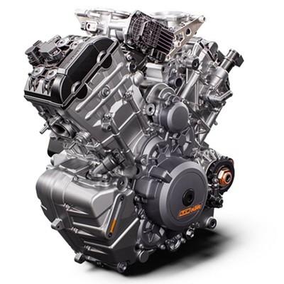 Vue sur la partie moteur du KTM Superduke 2020