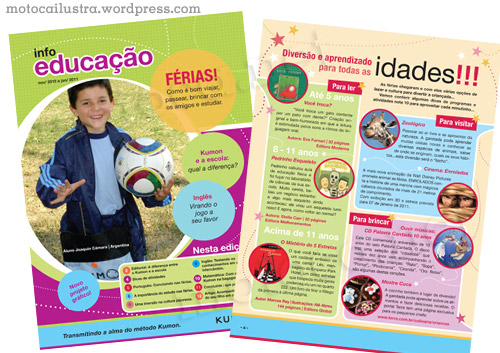 Projeto Gráfico e Diagramação da revista Kumon (nov/10)
