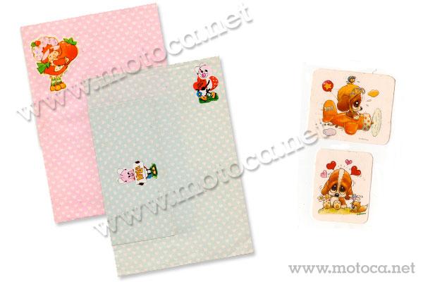 papel de carta e adesivo