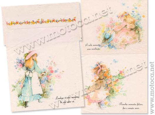 papel meninas e flores