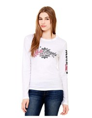 MotoAngels Ladies Long Sleeve Tee: White front
