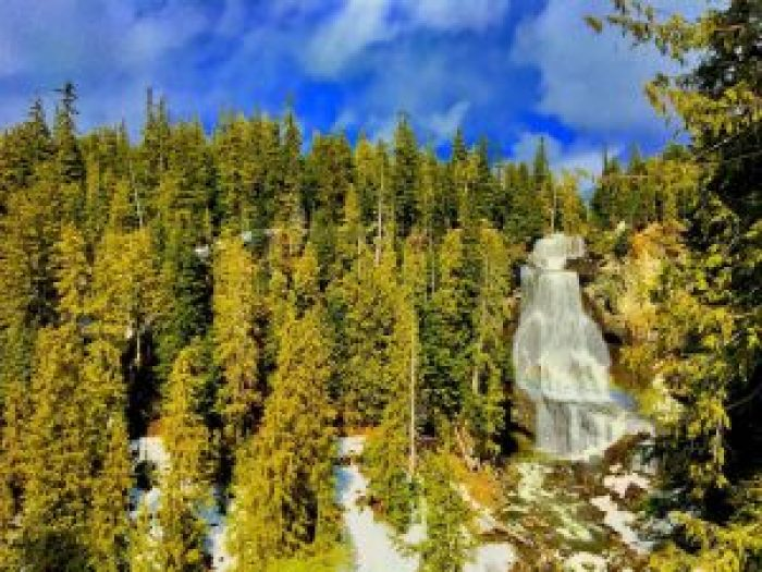 Alexander Falls in Whistler BC Motorcycle stop