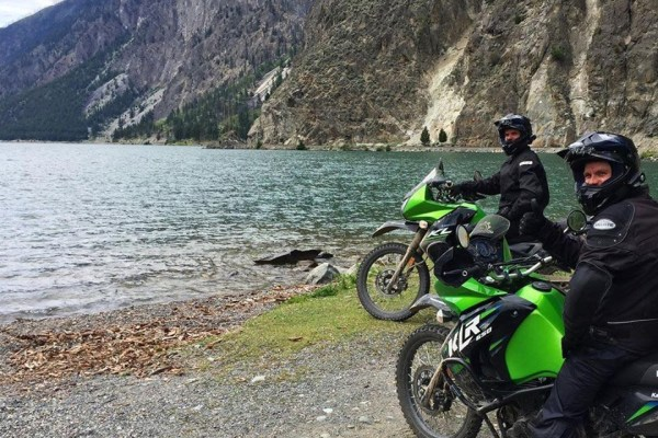Stopping at Seton lake on the Duffey Lake Road