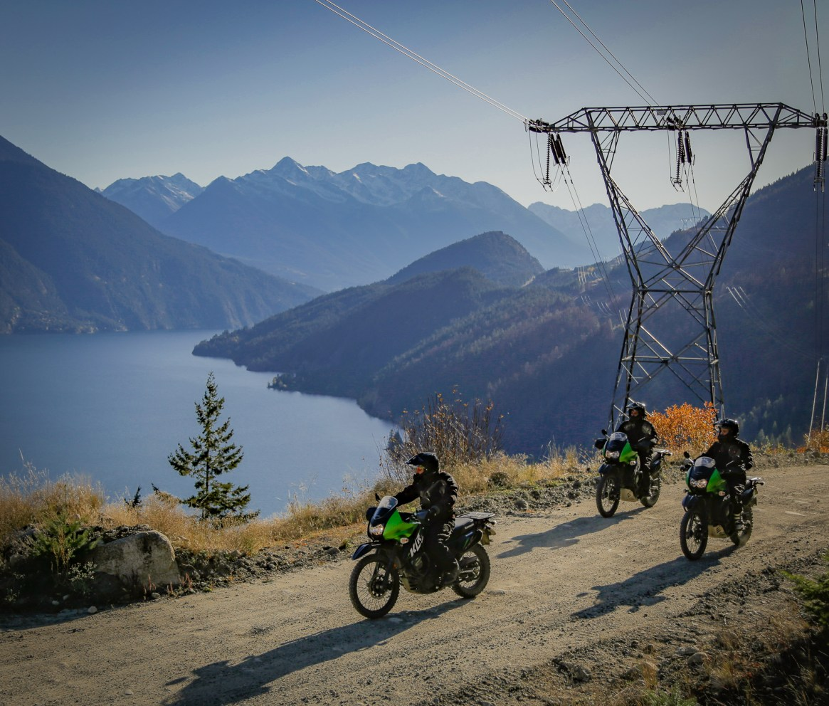 Motorcycle tour Canada above anderson lake