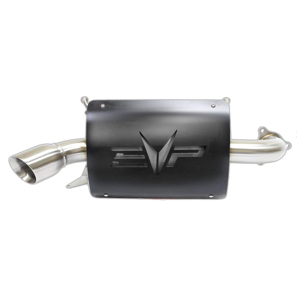 evolution powersports polaris xp turbo magnum turbo back full exhaust black