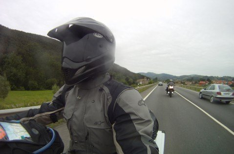 Another adventure rider on his BMW GS joins me for a few miles