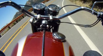 Riders view from the Bonneville