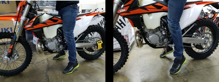 Stock vs. Lowered Dirt Bike
