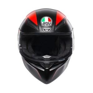 Casco Moto Integrale AGV K-1 Multi WARMUP Nero Rosso
