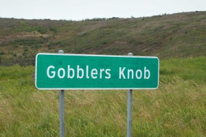 Some say Gobblers Knob is the original 'start' point of the Pan American Highway