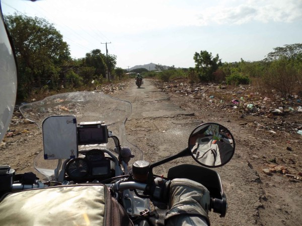 One of the not so good roads (Leon, Nicaragua)