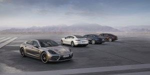 World premiere of the Panamera Executive models and the 911 RSR