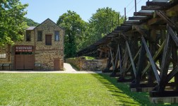 Old railroad trails in Harpers Ferry